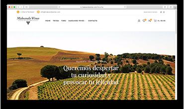 Página web tienda online venta de vino