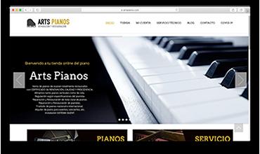 Página web tienda online venta de pianos y banquetas