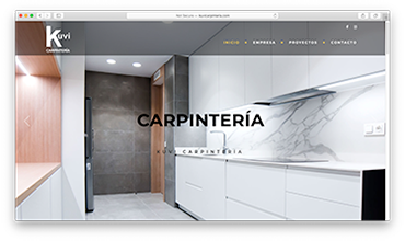 Página web corporativa carpintería de diseño