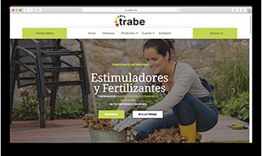 Página web corporativa productos para el cultivo