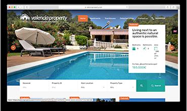 Página web corporativa de inmobiliaria