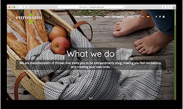 Diseño web página corporativa fábrica de mantas