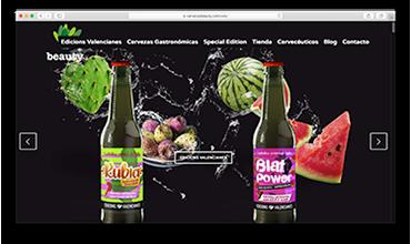 Diseño web de tienda online venta de cervezas de autor