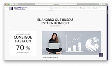Diseño web página corporativa instalaciones fotovoltaicas