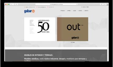Diseño web página corporativa de mobiliario